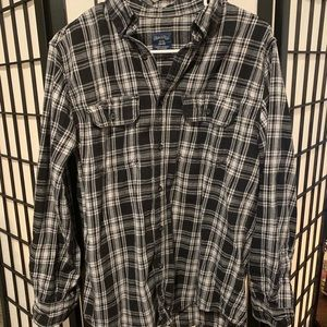 Faded Glory Black and White Flannel Shirt